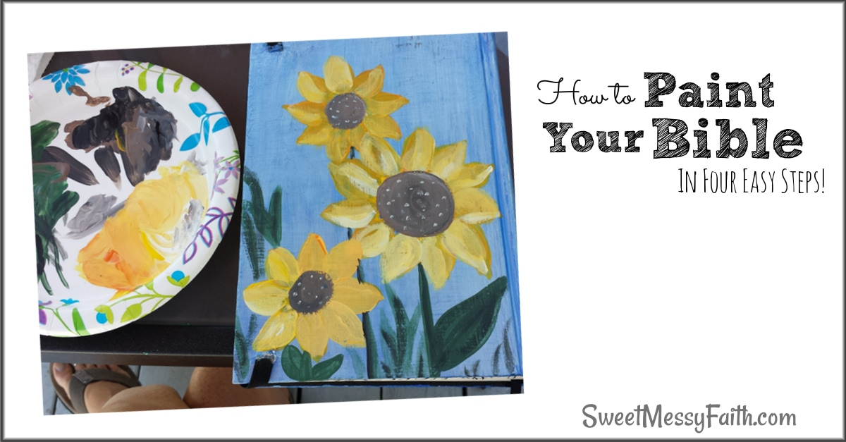 How to Paint Your Bible Cover! Four Simple Steps!