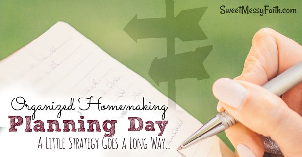 SAHM life is full of distractions. Take control of your homemaking with a Planning Day.