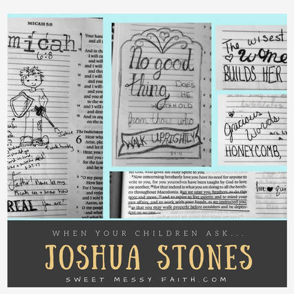 Collecting Joshua stones in your Bible