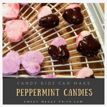 Peppermint Kid Candies. Easy as play dough!